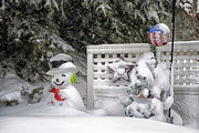 Storm Prints Photo Prints - Frosty The Snow Man Print by Thomas Woolworth