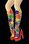 Stilettos Paintings - Frou Frou by Lisa Frances Judd