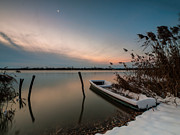 Reed Photos - Frozen boat III by Davorin Mance