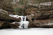 Hocking Acrylic Prints - Frozen Falls Acrylic Print by Dale Kincaid