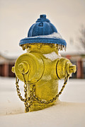 Winter Storm Framed Prints - Frozen Fire Hydrant Framed Print by Brett Engle