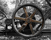 Grime Photo Prints - Frozen Gears Print by Daniel Hagerman