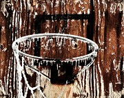 Backboard Prints - Frozen Hoop Print by Benjamin Yeager