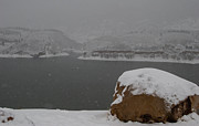 Horsetooth Reservoir Photos - Frozen Inlet by Harry Strharsky