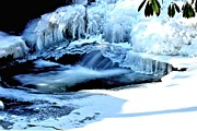 Jahred Allen Photography Posters - Frozen Waterfall Poster by Jahred Klahre