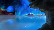 Alien Worlds Prints - Frozen Worlds Print by Bill  Wakeley