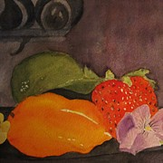 Pepper Paintings - Fruit and Flowers by Marilyn Campbell