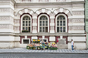 Republic Building Prints - Fruit and veg stall on the street in Prague Print by Matthias Hauser