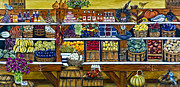 Farm Stand Framed Prints - Fruit and Vegetable Market by Alison Tave Framed Print by Sheldon Kralstein