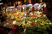 Fruit Store Photos - Fruit and vegetable store at Boqueria Market by Ruben Vicente
