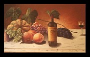Green Painting Prints - Fruit and Wine Print by Eric Scott Hayes