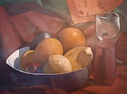 Jessica Sanders Art - Fruit and Wine by Jessica Sanders
