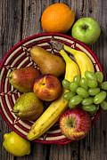 Fruit Basket Print by Garry Gay