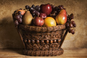 Grapes Art Photo Framed Prints - Fruit Basket Still Life Framed Print by Andrew Soundarajan