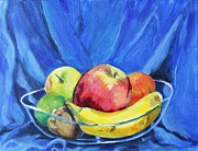 Kiwi Painting Originals - Fruit Bowl by Jan Bennicoff