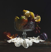 Crystal Painting Prints - Fruit Bowl Print by Larry Preston