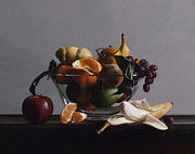 Apples Painting Framed Prints - FRUIT BOWL no.2 Framed Print by Larry Preston