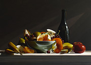 Realist Paintings - FRUIT BOWL no.3 by Larry Preston