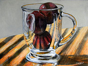 Glass Art Painting Posters - Fruit Cup Poster by Steve Goad