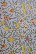Featured Tapestries - Textiles Metal Prints - Fruit Design 1866 Metal Print by William Morris