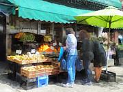 Fruit For Sale Hoboken Nj Print by Susan Savad