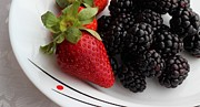 Strawberry Smoothie Metal Prints - Fruit ii - Strawberries - Blackberries Metal Print by Barbara Griffin