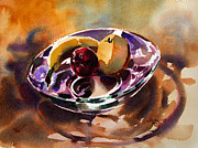 Julianne Felton - Fruit in a glass bowl by...