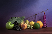 Grape Leaves Photo Posters - Fruit in Still Life Poster by Tom Mc Nemar