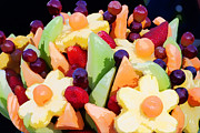 Cantaloupe Photo Prints - Fruit Kabobs Print by Cindy Singleton