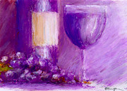Wine Glass Pastels - Fruit Of The Harvest by William Beaupre
