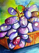 Dessert Wine Paintings - Fruit of the Vine by Jane  Ricker