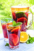 Glasses Photos - Fruit punch  by Elena Elisseeva