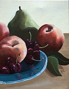 Home Plate Paintings - Fruit by Rachel Lawson