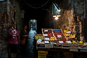 Naples Metal Prints - Fruit Stall Metal Print by Marion Galt