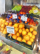 Oranges Prints - Fruit Stand Hoboken NJ Print by Susan Savad