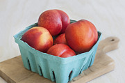 Fresh Picked Fruit Framed Prints - Fruit Stand Nectarines Framed Print by Rich Franco