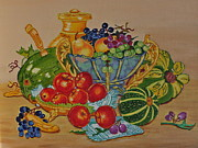 Sports Murals Paintings - Fruit still life. by Johanna Bruwer