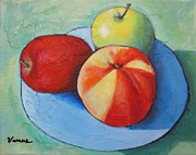 Home Plate Painting Framed Prints - Fruit Still Life Framed Print by Venus