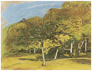 Fruit Trees Print by Claude Monet