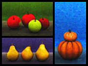Pumpkins Digital Art - Fruit Trilogy by Jutta Maria Pusl