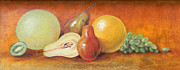 Groceries Painting Posters - Fruit Variety Poster by Judy Bruning