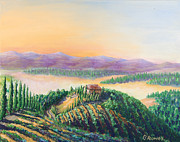 Grapevines Paintings - Fruitful And Prosperous by Gary Rowell