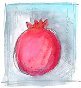 Pomegranate Posters - Fruitful Beginning Poster by Linda Woods