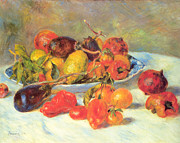 Midi Framed Prints - Fruits of The Midi  Framed Print by Renoir