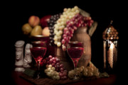 Chess Photos - Fruity Wine Still Life by Tom Mc Nemar