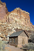 One Room School Houses Photo Metal Prints - Frutia Schoolhouse Capitol Reef National Park Utah Metal Print by Jason O Watson