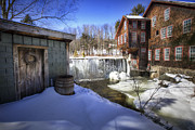 New England Village  Posters - Fryes Measure Mill Poster by Eric Gendron