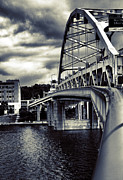 Pittsburgh Pirates Digital Art Prints - Ft. Duquesne Bridge in Pittsburgh Print by Mattucci Photography
