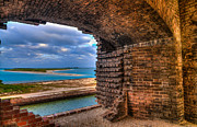 Dry Tortugas Prints - Ft. Jackson and Its Horizon 2 Print by Andres Leon