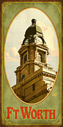 Historical Buildings Prints - Ft. Worth Texas Print by Jim Sanders